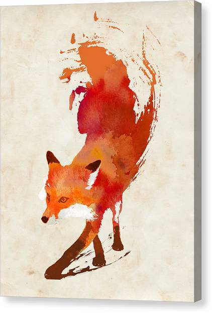 Small Mammals Canvas Print - Vulpes Vulpes by Robert Farkas