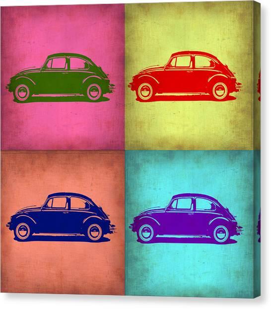 Beetle Canvas Print - Vw Beetle Pop Art 1 by Naxart Studio