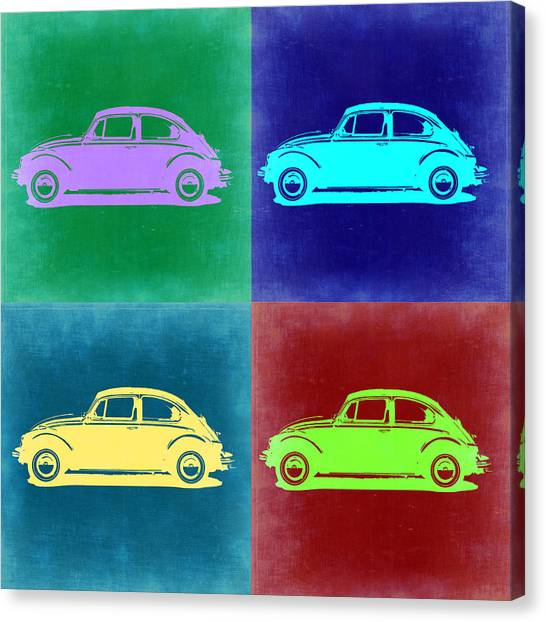 Beetle Canvas Print - Vw Beetle Pop Art 3 by Naxart Studio