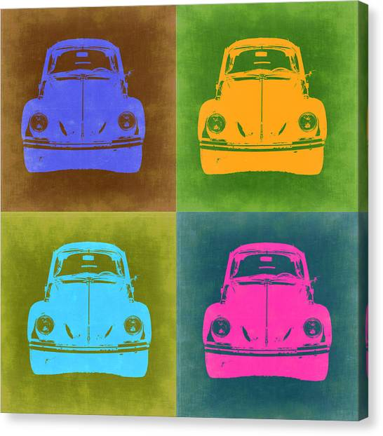 Beetles Canvas Print - Vw Beetle Pop Art 6 by Naxart Studio