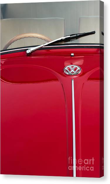 Front End Canvas Print - Vw Beetle by Tim Gainey