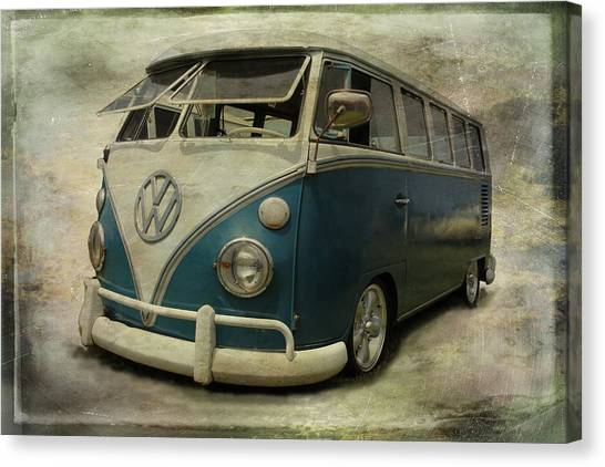 Vw Bus On Display Canvas Print