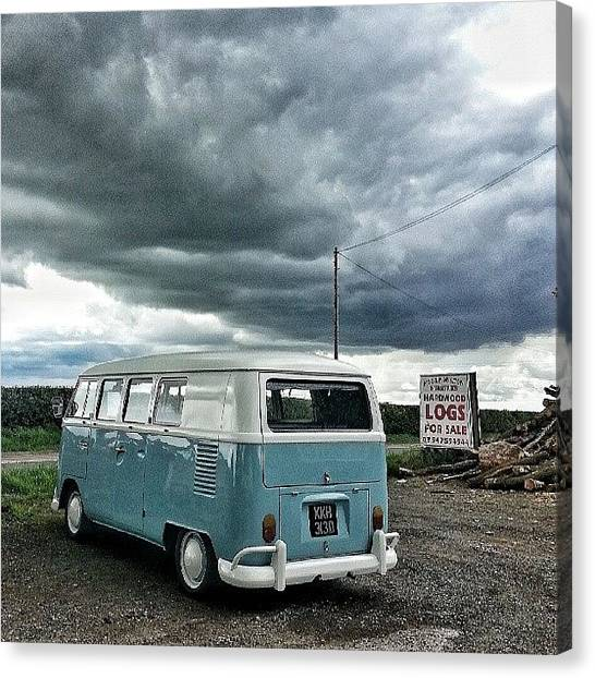 Vw Bus Canvas Print - #vw #camper #bus #splitty #splitscreen by Dave Williams