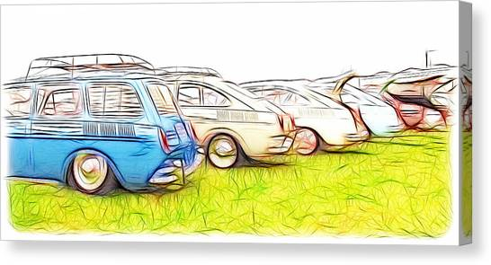 Vw Squareback Art Canvas Print
