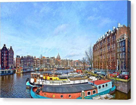Waalseilandgracht Amsterdam Canvas Print
