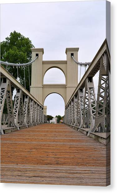Waco Suspension Bridge Canvas Print