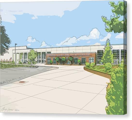 Schools Canvas Print - Wade Hampton High School by Greg Joens