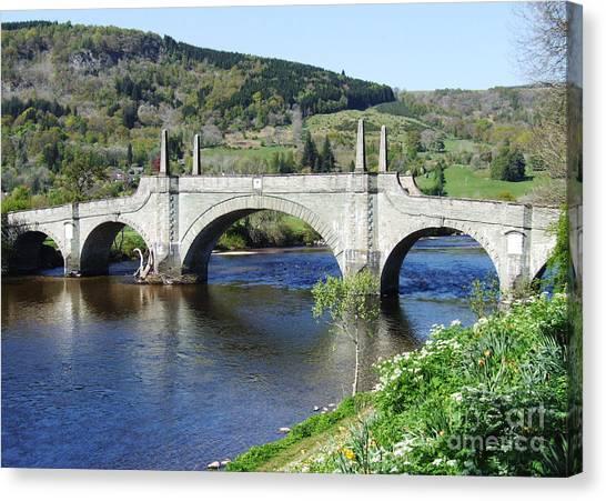 Wades Bridge - Aberfeldy - Scotland Canvas Print by Phil Banks