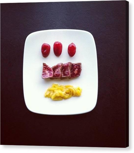 Mangos Canvas Print - #wagyu #tataki #osmosis #cherrytomato by TC Li