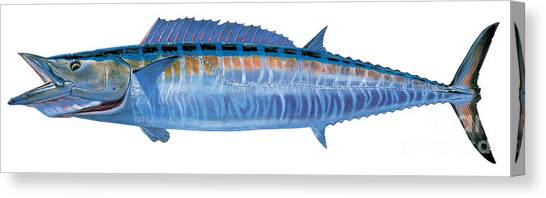 Spearfishing Canvas Print - Wahoo by Carey Chen