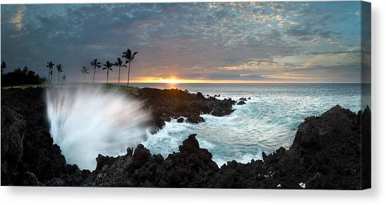 Lava Canvas Print - Waikaloa Mana by Sean Davey