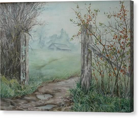 Waikato Fog. Canvas Print by Val Stokes