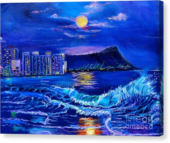 Waikiki Lights Canvas Print