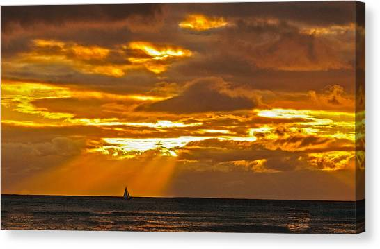 Waikiki Sun Set Canvas Print