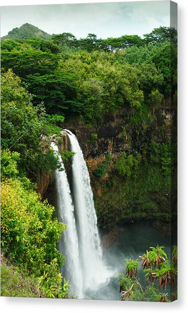 Wailua Falls Kauai Canvas Print