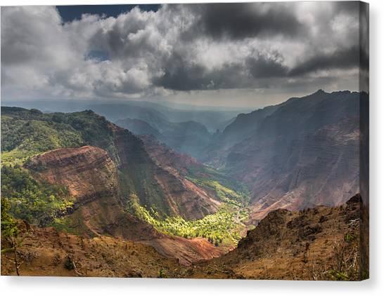 Waimea Canyon Kauai Canvas Print by Sam Amato