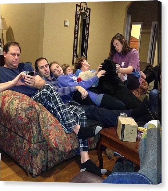 Hands Canvas Print - Wait! How Many People Fit On A Couch? by Joyhhand Hand
