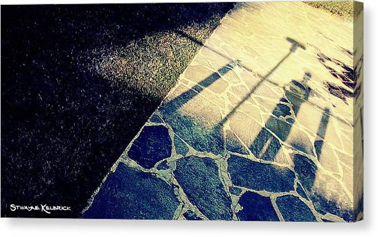 Canvas Print featuring the photograph Wait In The Shade by Stwayne Keubrick