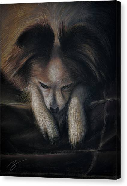 Waiting For Bed - Pastel Canvas Print