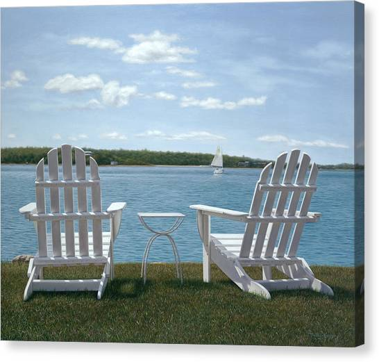 Buzzards Canvas Print - Waiting For Cocktail Time On Cape Cod by Julia O'Malley-Keyes