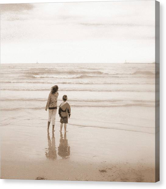 Waiting For Daddy Canvas Print