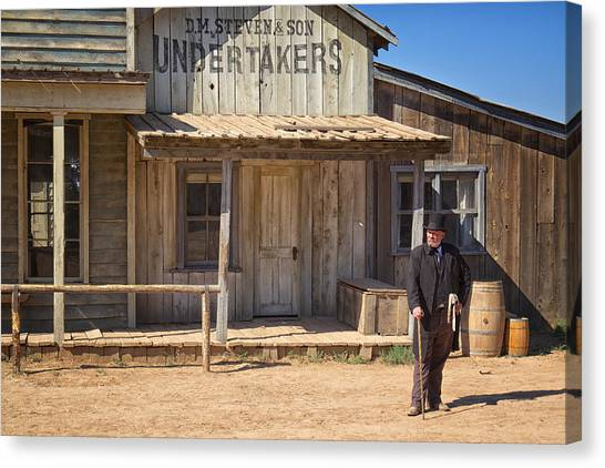 Undertaker Canvas Print - Waiting For High Noon by Mary Lee Dereske
