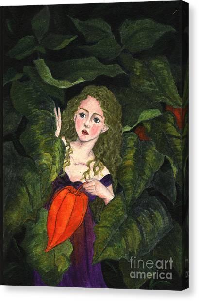 Waiting For Secret Lover Canvas Print
