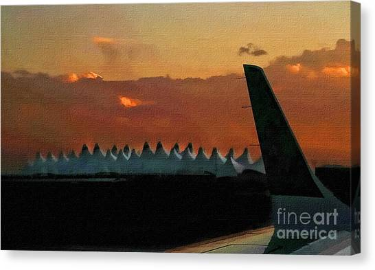 Waiting For Take-off Canvas Print by Clare VanderVeen