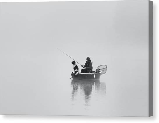 Nets Canvas Print - Waiting For The Big Catch by Uschi Hermann