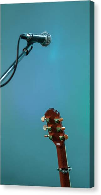 Microphones Canvas Print - Waiting For The Gig by Nigel Jones