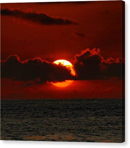 Ocean Sunsets Canvas Print - Waiting For The Green Flash That Never by Brian Governale