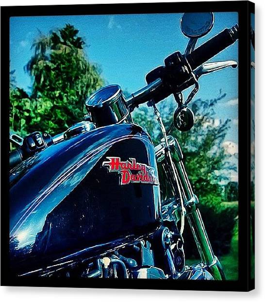 Tanks Canvas Print - Waiting For The Next Summer. - | #bike by Manuela Kohl