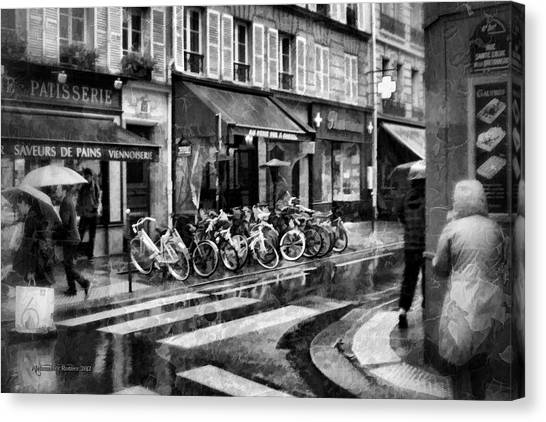 Waiting In The Bar For The Rain To Pass #1 Canvas Print