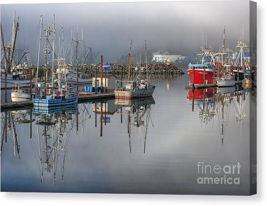 Crabbing Canvas Print - Waiting It Out by Sandra Bronstein