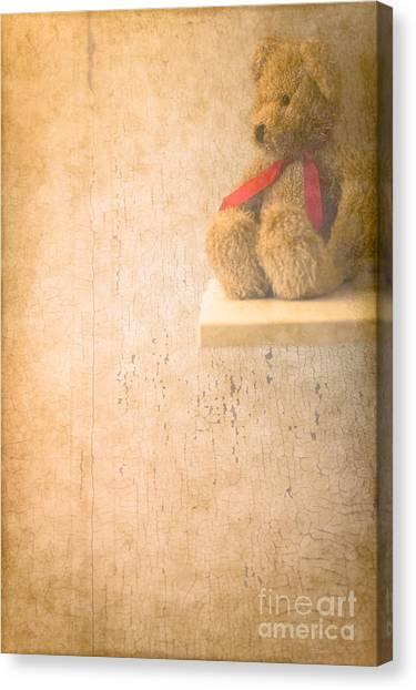 Teddy Bears Canvas Print - Waiting  by Jan Bickerton