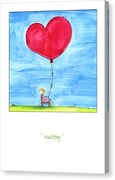 Anniversary Canvas Print - Waiting by Meg Hawkins