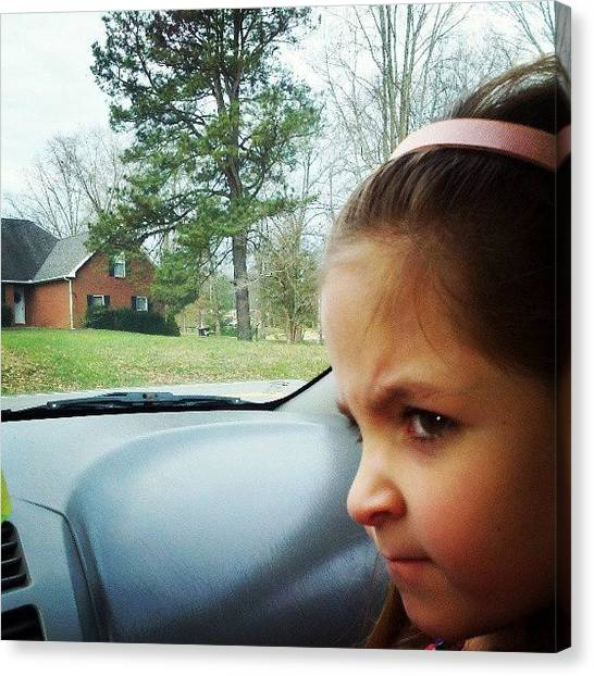 Mac Canvas Print - Waiting On The Bus...lil Diva This by Greg Mac