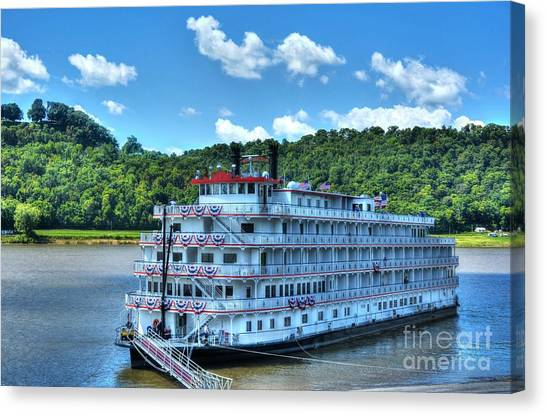 Waiting On The Levee Canvas Print