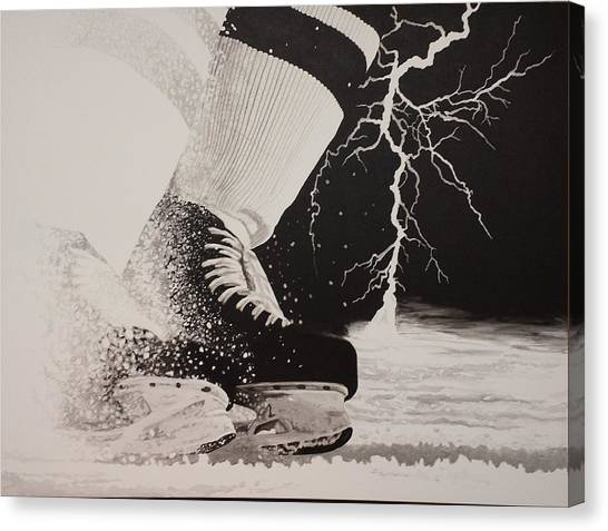 Waiting On The Thunder Canvas Print