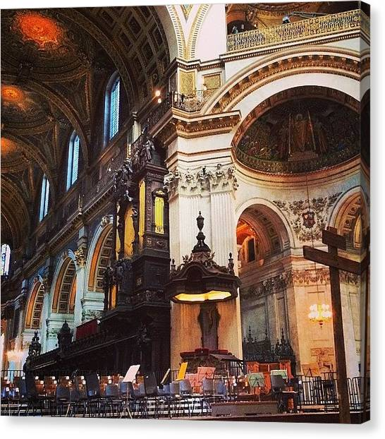 Baroque Art Canvas Print - Waiting. St John Passion #stpaulslondon by Alex Nisbett