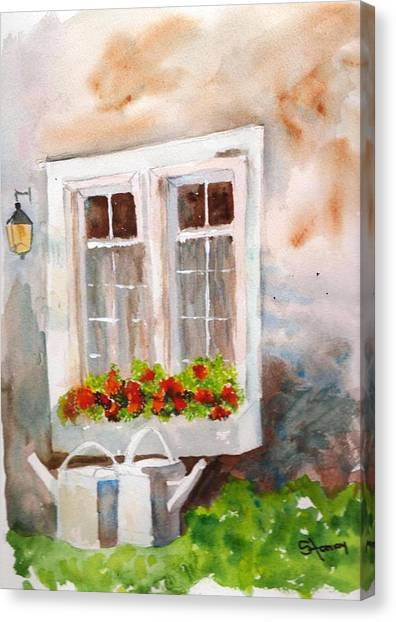 Waiting To Be Watered Canvas Print by Sandi Stonebraker