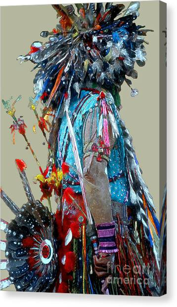 Costume Canvas Print - Waiting To Dance by Linda  Parker