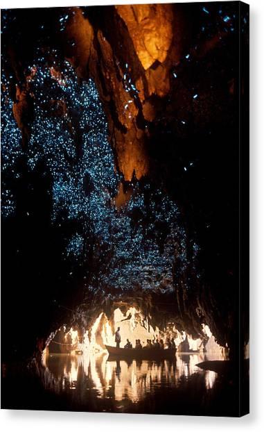 Limestone Caves Canvas Print - Waitomo Glow Worm Caves by Brian Brake
