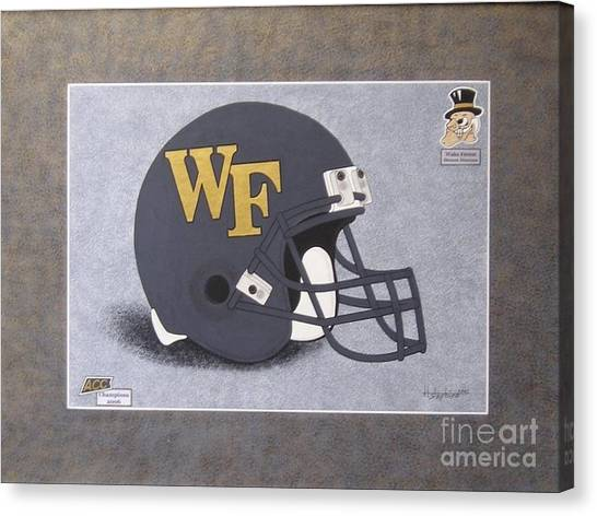 Wake Forest T-shirt Canvas Print