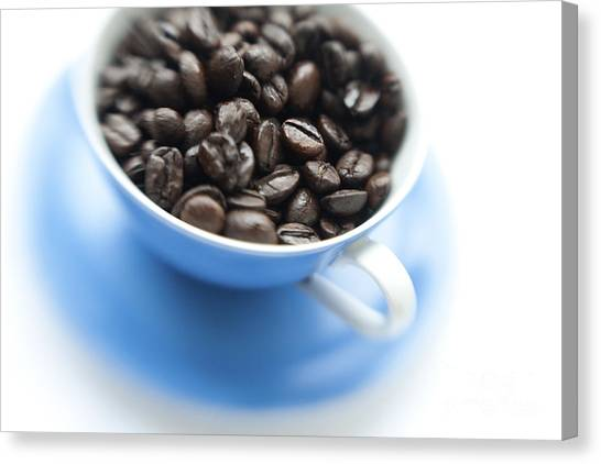 Coffee Beans Canvas Print - Wake-up Cup by Priska Wettstein