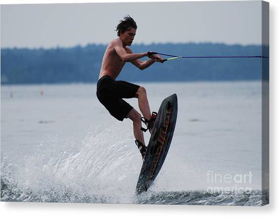 Wakeboarder Canvas Print
