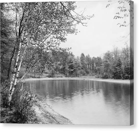 Walden Pond Canvas Print - Walden Pond, C1905 by Granger