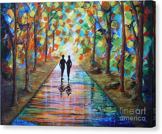 Walk After The Rain Canvas Print