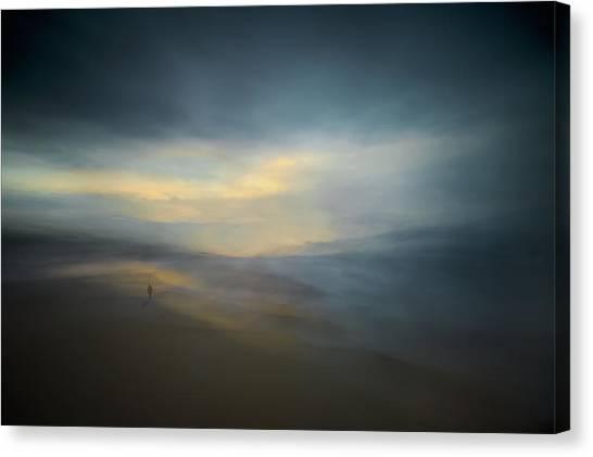 Desolation Canvas Print - Walk Along The Edge Of Nowhere by Santiago Pascual Buye