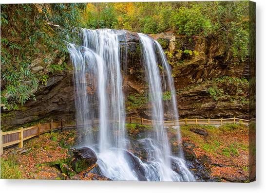Cullasaja Falls Canvas Print - Walk Behind The Falls by John M Bailey